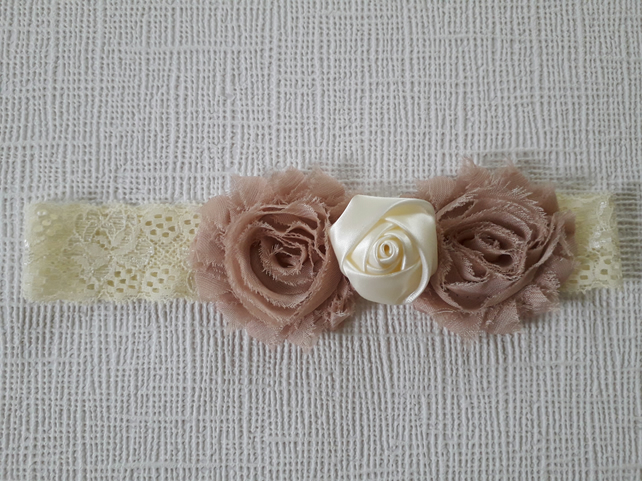 Baby headband, lace flowers headband, boho headband, girl women gift
