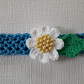 Crochet baby headband, cotton, toddler girl headband, baby gift