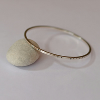 Personalised Silver Bangle, Message Bracelets