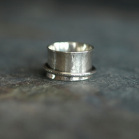 Spinner Ring, Handmade Sterling Silver Fidget Rings