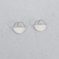 Simple Semi Circle Stud Earrings - Handmade Minimalist Jewellery
