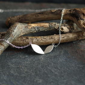 Leaf Necklace, Handmade Sterling Silver Jewellery