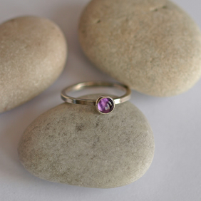 Amethyst Ring, Sterling Silver Rings