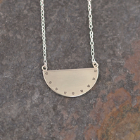 Silver Semi Circle Necklace