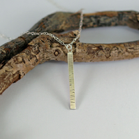 Silver Birch Necklace, Inspired by Nature Bar Pendant