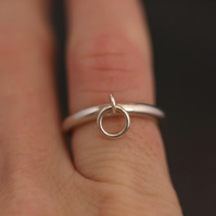 Silver Ring, Interlinking Rings,