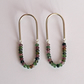 Tourmaline Oval Earrings, Handmade Sterling Silver