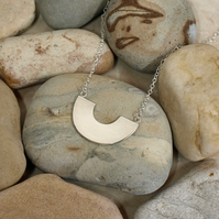 Sterling Silver Semi-Circle Minimalist Necklace