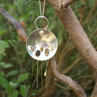 Forest Landscape Kinetic Pendant Necklace