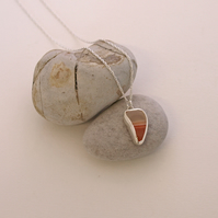 Banded Agate Pendant Necklace