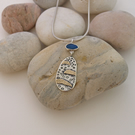 Seashore Pendant Necklace, Sterling Silver, 9ct Gold and Opal