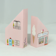 Wooden House, Ice Cream Shop, Miniature Houses