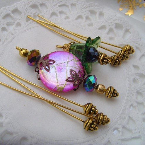 10 Pairs of Decorative Jewellery Headpins