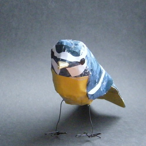 Paper bird- bluetit