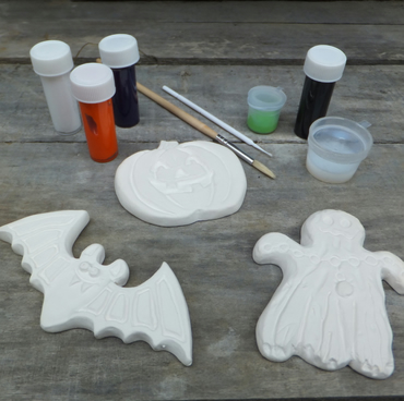 Halloween Craft Kit - Paint Your Own Halloween Magnets