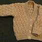 "Beige Cardigan for Newborn Baby (0-2 months) 16"" chest"