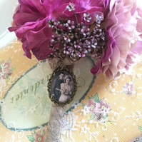 MEMORY PHOTO BROOCH Bridal Bouquet Charm