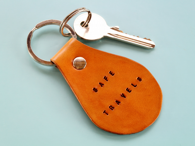 Hand made Leather Keychain