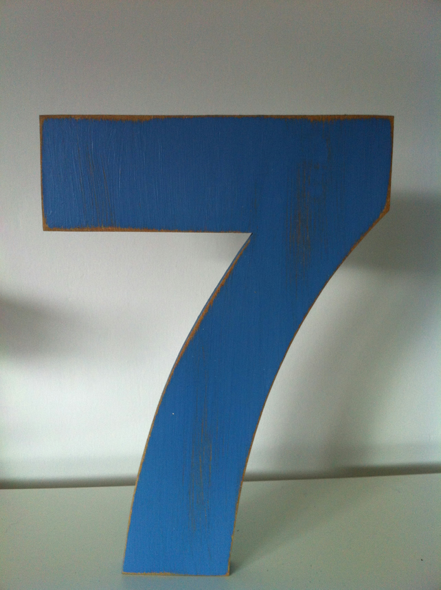 Decorative Freestanding Wedding Table Numbers - Massive 28cm high - Number 7