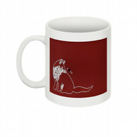THIS FOX THINKS YOU'RE A C-CK MUG