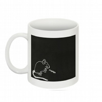 THIS MOUSE THINKS YOU'RE A MORON MUG