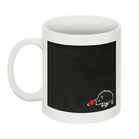 THIS HEDGEHOG THINKS YOU'RE A C- -T MUG