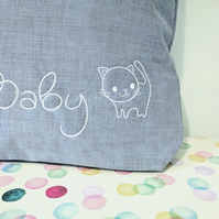 baby changing bag, cat, new baby gift, diaper bag, changing bag, kitten