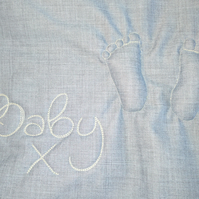 changing bag, baby gift, baby feet, baby changing bag, new baby gift, diaper bag