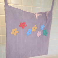 Birthday gift, flower bag, gift, shoulder bag, fabric bag, flowers
