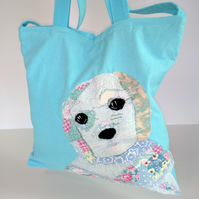 dog, puppy, dog bag, tote, shoulder bag, gift, Birthday gift
