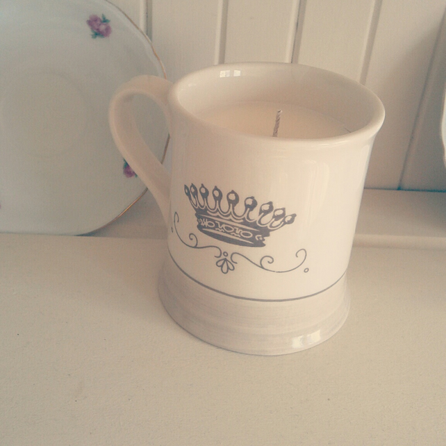 British Brew candle in a mug