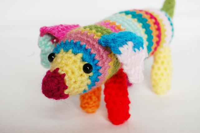 Dachshund sausage dog puppy crochet amigurumi plush toy | Flickr | 427x642