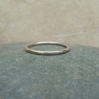 Sterling Silver Plain Stacker Ring - R0021
