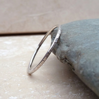 Sterling Silver Dappled Stacker Ring - R0019