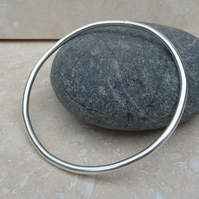 Chunky 3mm Thick Sterling Silver Bangle - BAN003