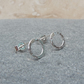 Sterling Silver Small 8 mm Round Hoop Stud Earrings - STUD041
