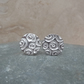 Fine Silver Patterned 12 mm Round Stud Earrings - STUD063