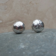 Sterling Silver 8 mm Pebble Stud Earrings - STUD056