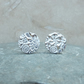 Fine Silver Patterned 12 mm Round Stud Earrings - STUD082
