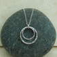 Sterling Silver Double Hammered Ring Pendant - PEN034