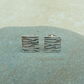 Fine Silver Patterned Square Stud Earrings - STUD060