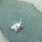 Sterling Silver Hammered Flower Pendant Necklace - PEN037