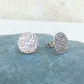 Sterling Silver Large Hammered Stud Earrings - STUD102