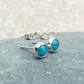 Sterling Silver and Turquoise Stud Earrings - STUD109