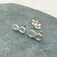 Sterling Silver Infinity Stud Earrings - STUD104