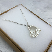 Sterling Silver Double Heart Pendant - PEN012