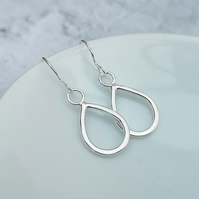 Sterling Silver Teardrop Earrings - SILV011