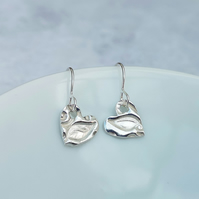 SALE - Silver Heart Earrings - SILV008