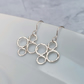 Silver Circle Earrings, Silver Drop Earrings, Circle Earrings - SILV082