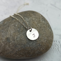 Initial Necklace, Letter Necklace, Personalised Silver Necklace - PER001